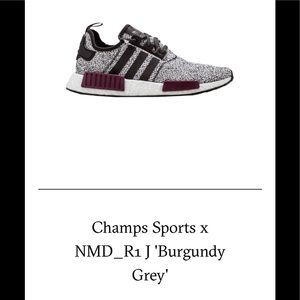 Champs Sports x NMD_R1 Burgundy 5.5Y(7-7.5 WMN)